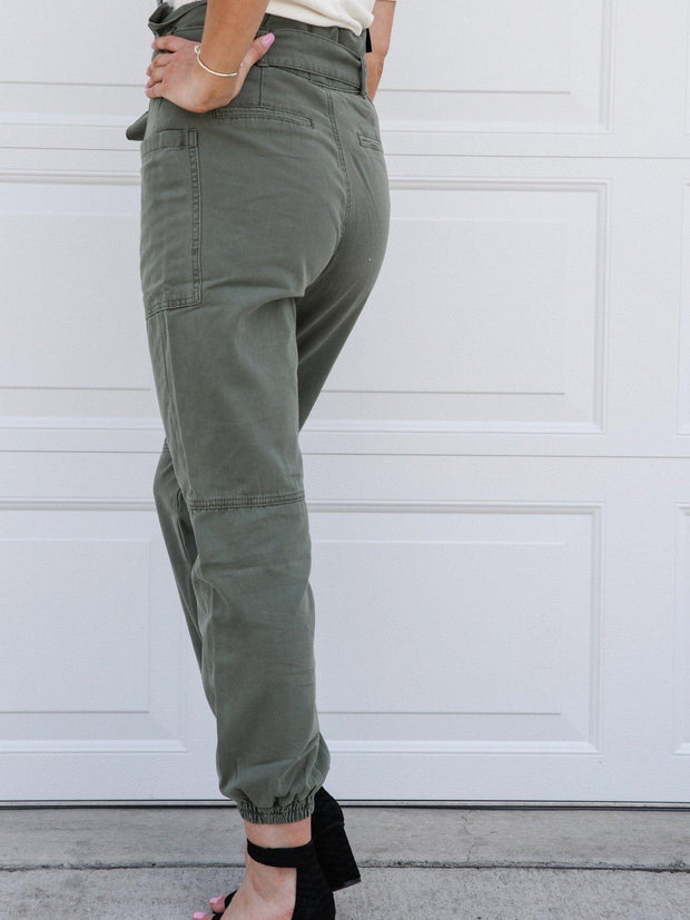 Joe's Jeans High Rise Belted Utility Joggers