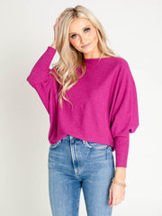 berry dolman top