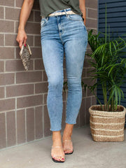 Free People High Rise Vintage Wash Denim