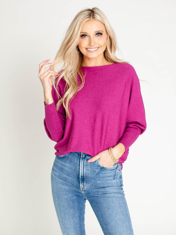 lightweight hot pink sweater