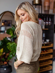 Gentle Fawn Wide Sleeve Open Knit Sweater
