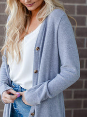Lightweight Ribbed Duster Cardigan