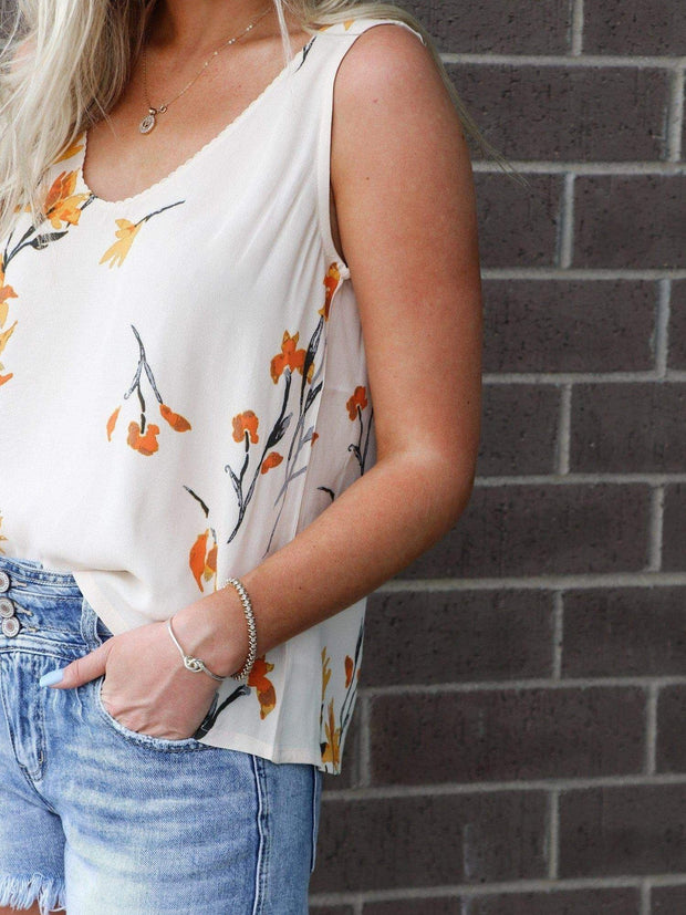 Gentle Fawn Floral Print Woven Tank