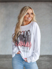 Long Sleeve Def Leppard Heartbreak Tour Sweatshirt