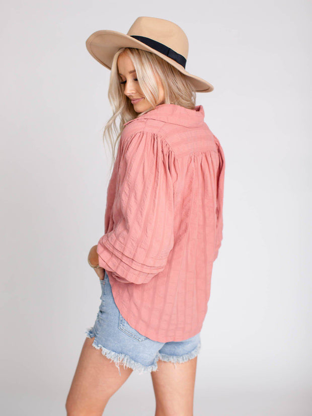 free people button down