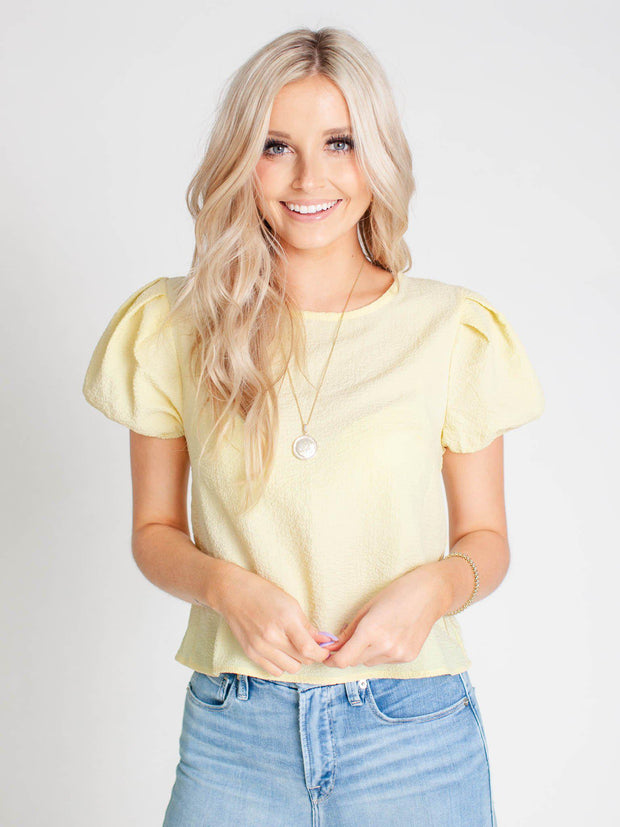 cropped textured top