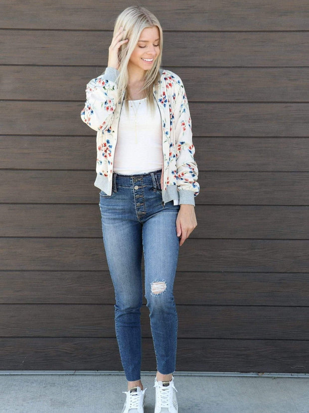 Saltwater Luxe Printed Bomber Jacket