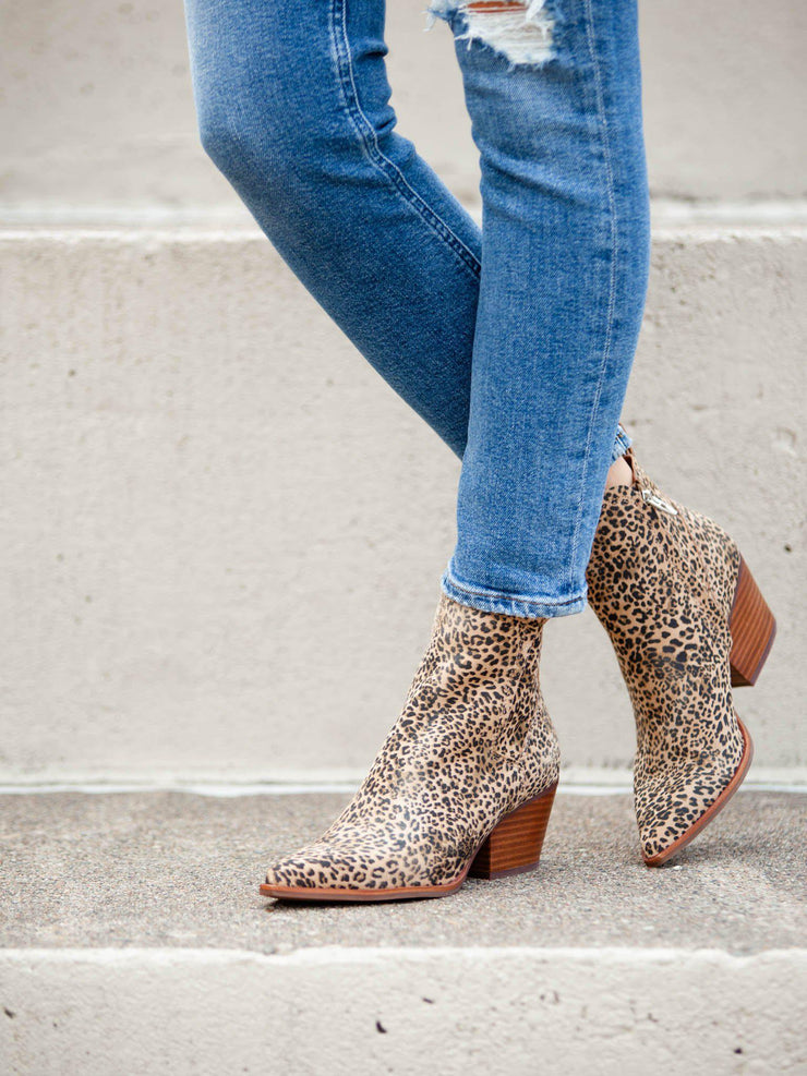 Dolce Vita Sammey Printed Leather Booties