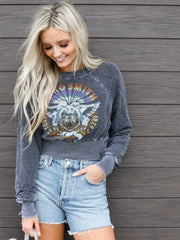 Aerosmith Raglan Style Washed Sweatshirt