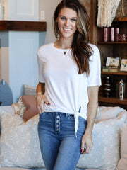 Gentle Fawn Basic Side Tie Tee