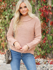Rib Mock Neck Chunky Sweater