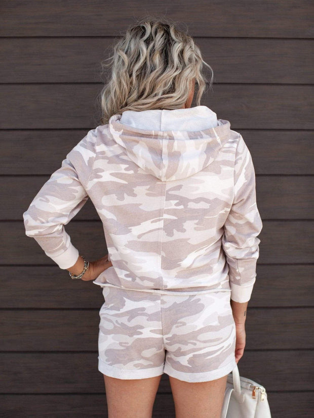 Alternative Apparel Hooded Camo Sweatshirt