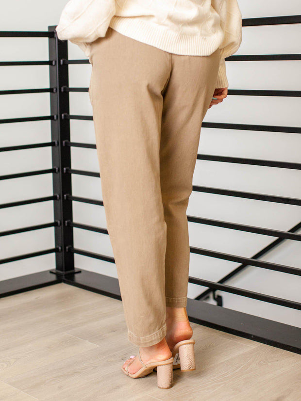 ankle length paperbag pants