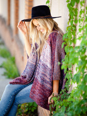 Distressed Stripe Cape