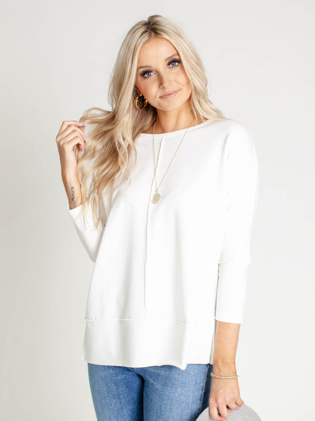 white dolman sweater