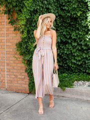 Billabong Strapless Cropped Jumpsuit