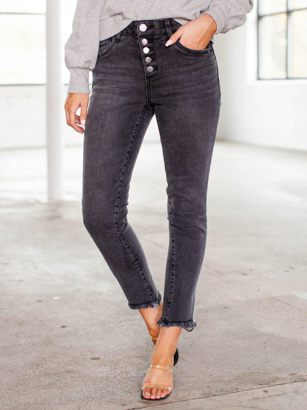 democracy ankle button down jeans