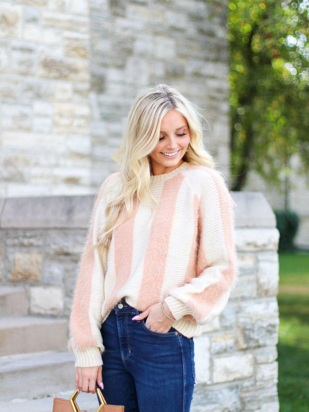 Two Tone Fuzzy Sweater