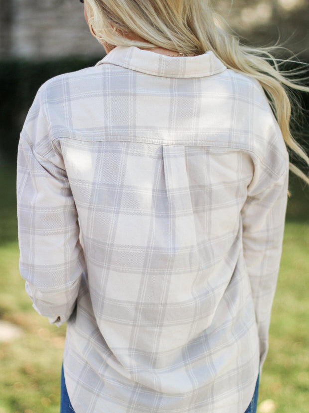Z Supply Plaid Top