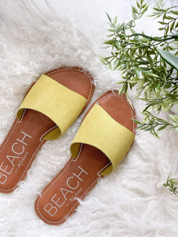 Matisse Yellow Suede Sandal