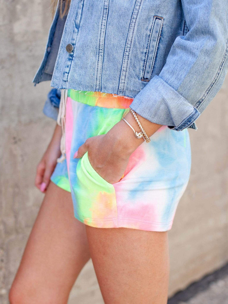 Pocket Front Tie Dye Shorts