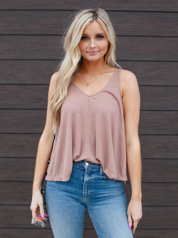 Free People Double V-Neck Cropped Tank