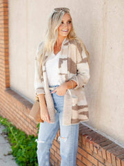 Neutral Camo Print Cardigan