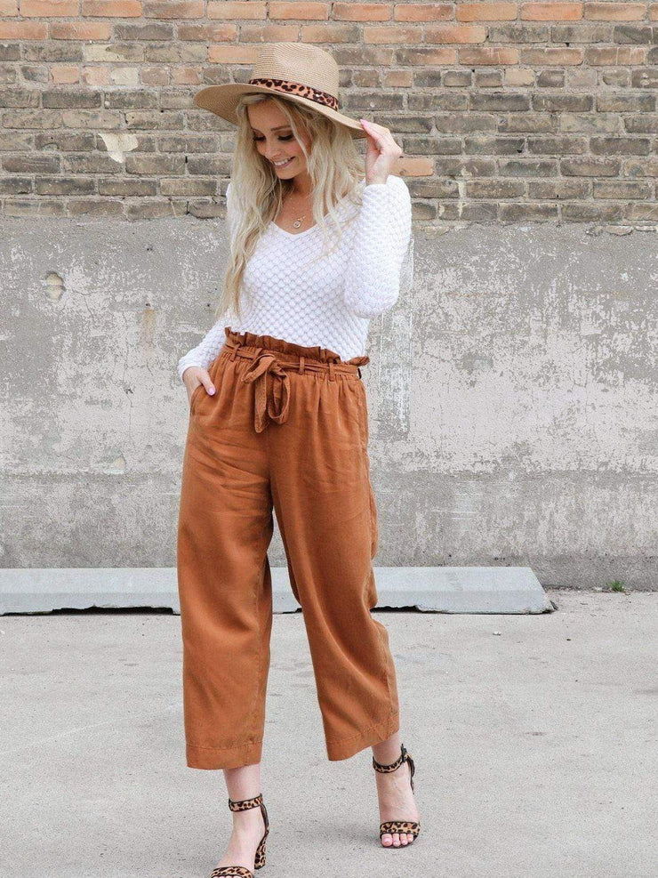 Self Tie High Rise Pants