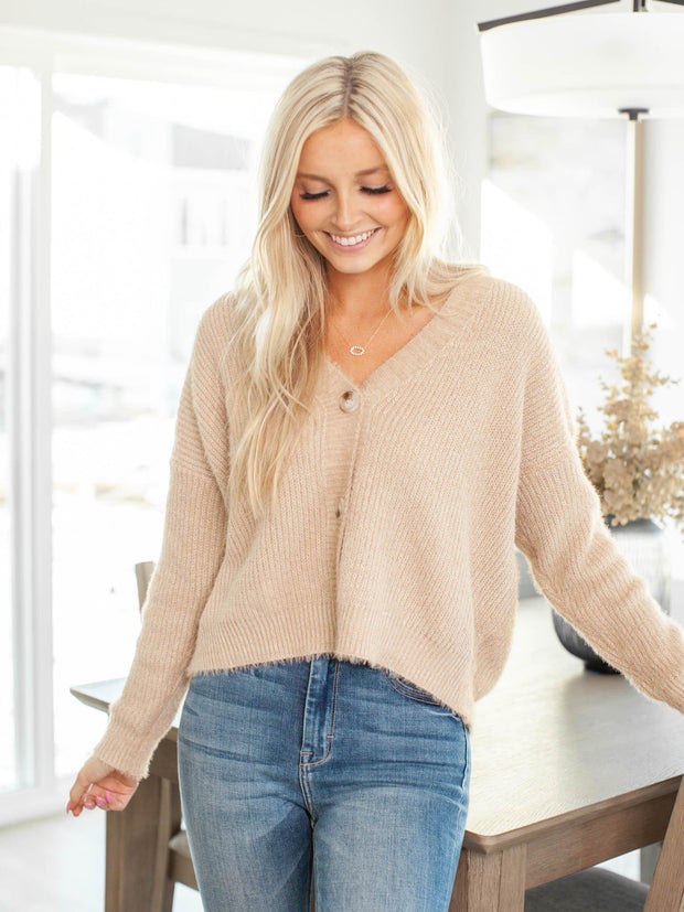 boxy cropped cardigan