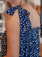 Smocked Top Tie Strap Tank