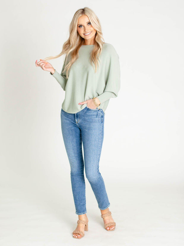 soft Seafoam dolman top