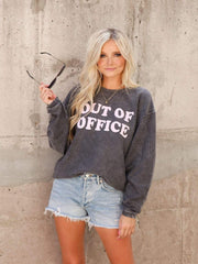 Out Of Office Crew Neck Sweatshirt