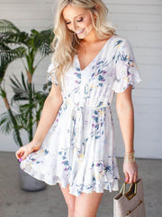 Gentle Fawn Floral Tie Front Dress