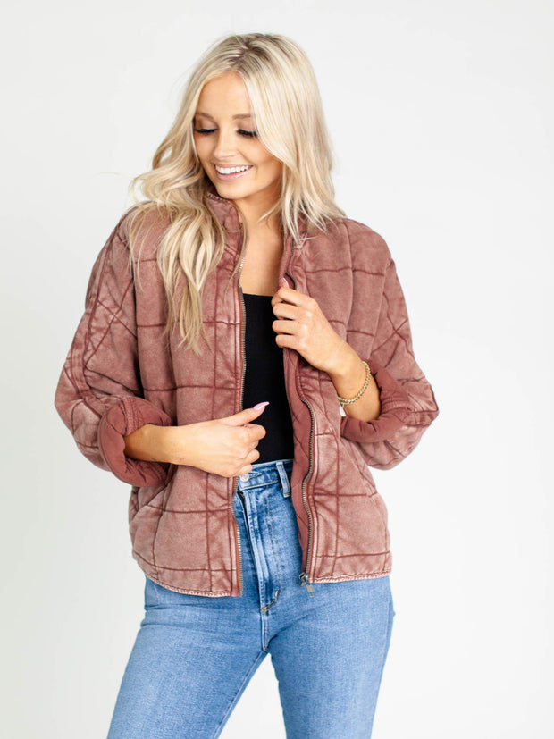 washed quilted jacket