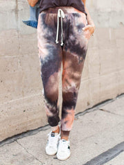 Slim Fit Drawstring Tie Dye Joggers