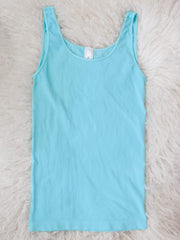 Scoop Neck Thick Strap Tank