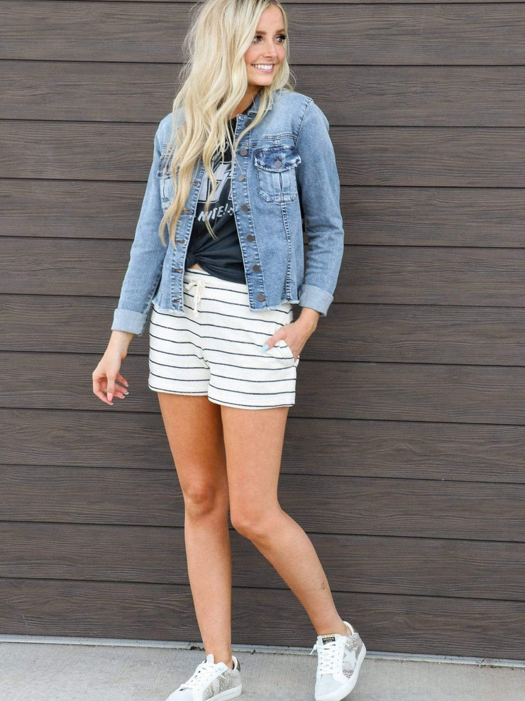 Thread & Supply Stripe Lounge Shorts