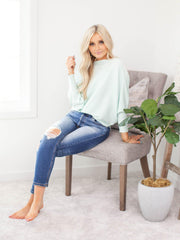 long sleeve mint dolman