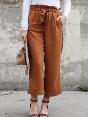 Cropped Paperbag Pants