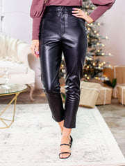 ruffled high rise pants