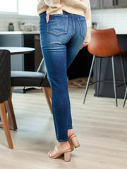 exposed fly denim