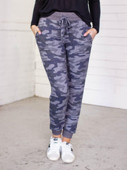 washed camo jogger