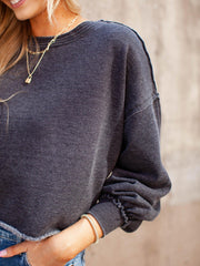 Z Supply Raw Edge Cropped Sweatshirt