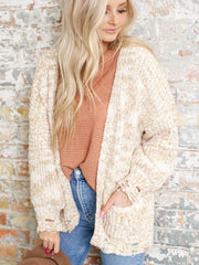 soft speckled cardigan