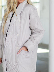 Free People button down putter coat