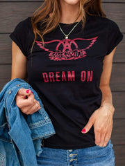 Aerosmith Dream On Fitted Band Tee