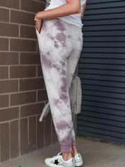 Thread & Supply Lavender Tie Dye Joggers