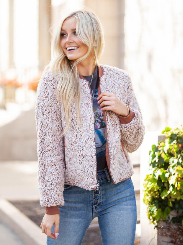 Faux Fur Sherpa Jacket