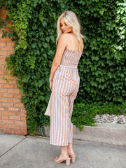 Cropped Strapless Jumpsuit