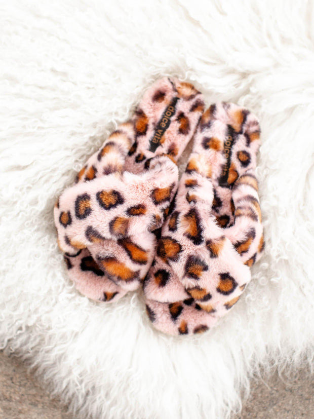 faux fur dolce vita slippers